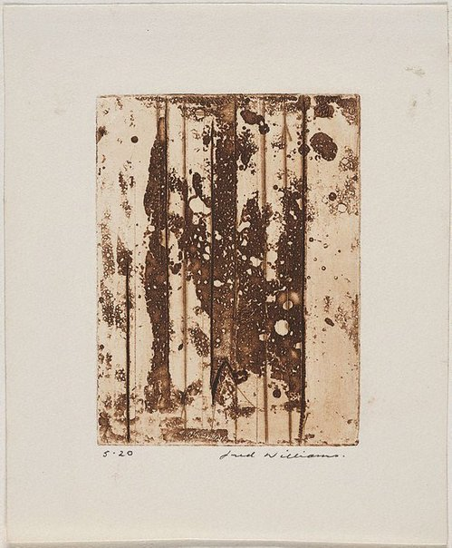 An image of Landscape panel number 6 by Fred Williams