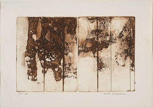 An image of Landscape diptych number 2 by Fred Williams