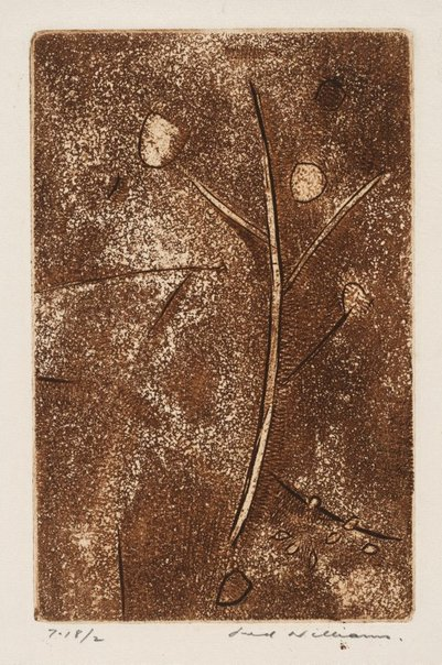An image of Gum tree by Fred Williams