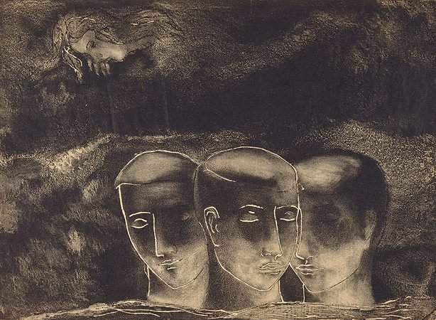 An image of The blind man (trial proof etching)