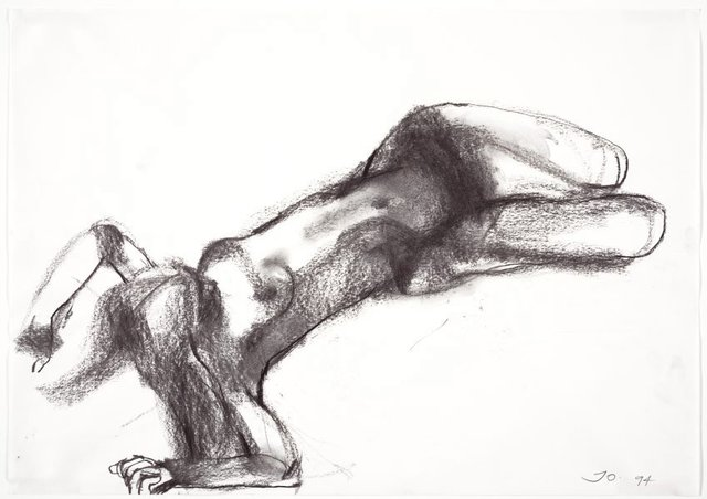 An image of Reclining female nude, hands behind her head