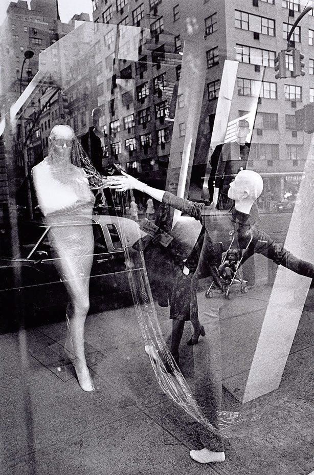 An image of Store window with reflections, New York