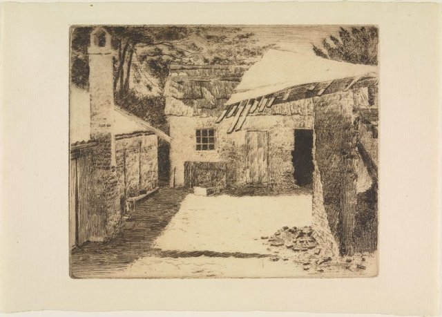 An image of Deserted courtyard, Hartley