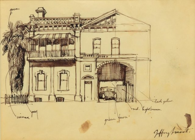Hackney Terrace, Adelaide, (1951) by Jeffrey Smart