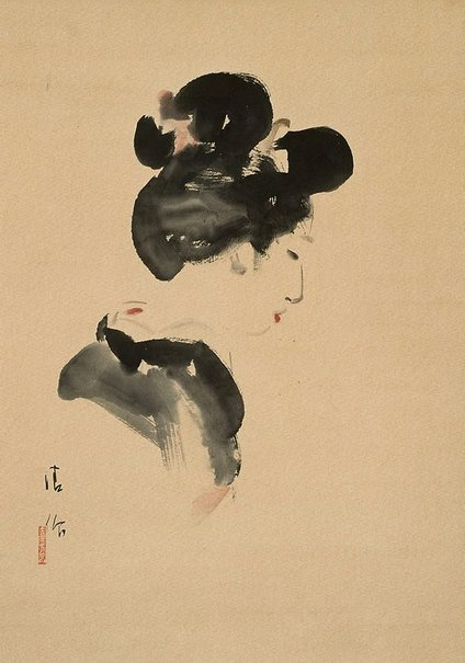 An image of Girl with Japanese hairdo by KOBAYAKAWA Kiyoshi