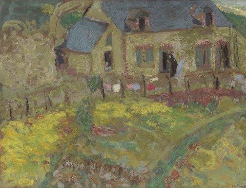 An image of Breton House, Saint-Jacut by Édouard Vuillard