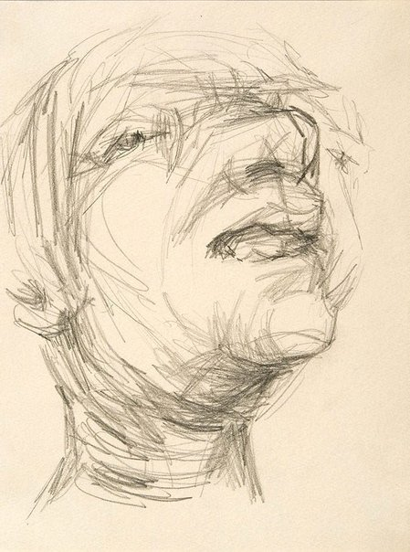 An image of Head of a man III by Oliffe Richmond