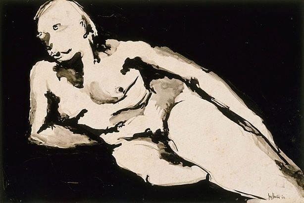 An image of Reclining female nude (Barbara Blackman)