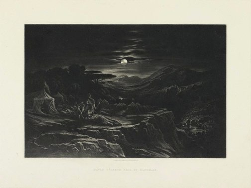 An image of David Spareth Saul at Hachilah by John Martin
