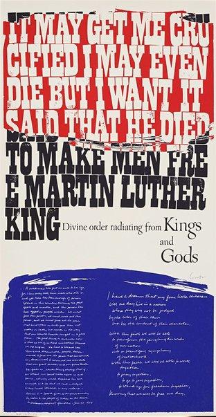 An image of king's dream by Corita Kent