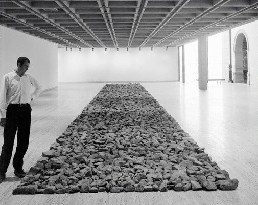 An image of Stone line by Richard Long