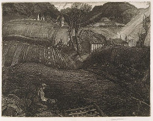 An image of The village by Graham Sutherland