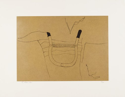 An image of Towards a definitive statement on the coming trends in men's wear and accessories (c) (1962) by Richard Hamilton