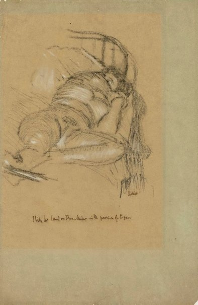 An image of Study for 'L'affaire de Camden town' by Walter Richard Sickert