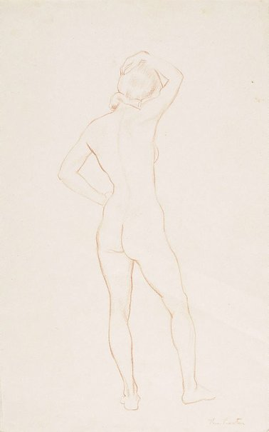 An image of Standing female nude by Thea Proctor