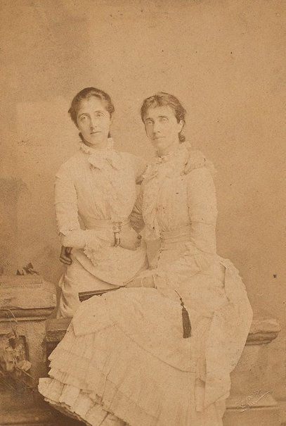 An image of Untitled (two women) by A.F. Le Chevalier Lafosse