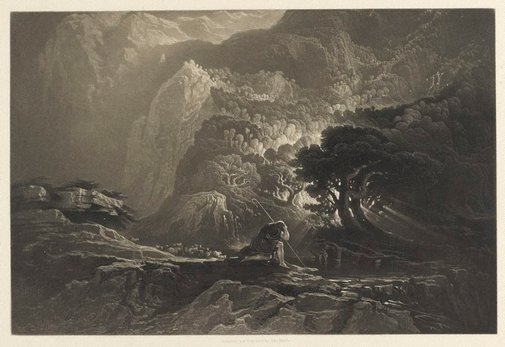 An image of Moses and the Burning Bush by John Martin