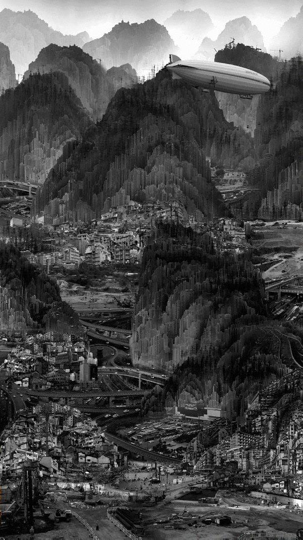 Infinite landscape, (2011) by Yang Yongliang
