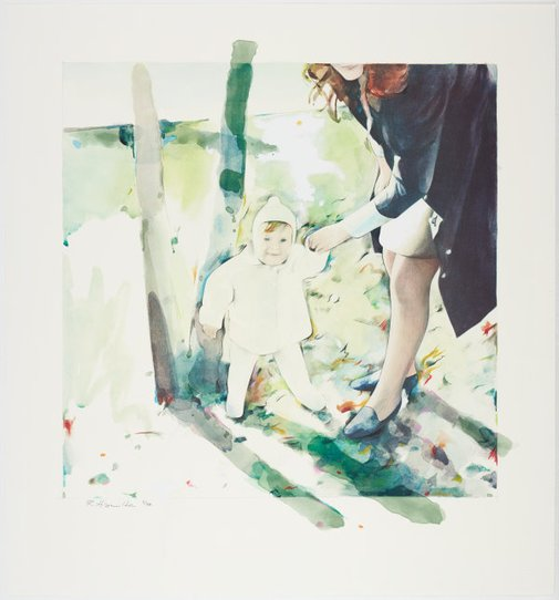 An image of Mother and child by Richard Hamilton