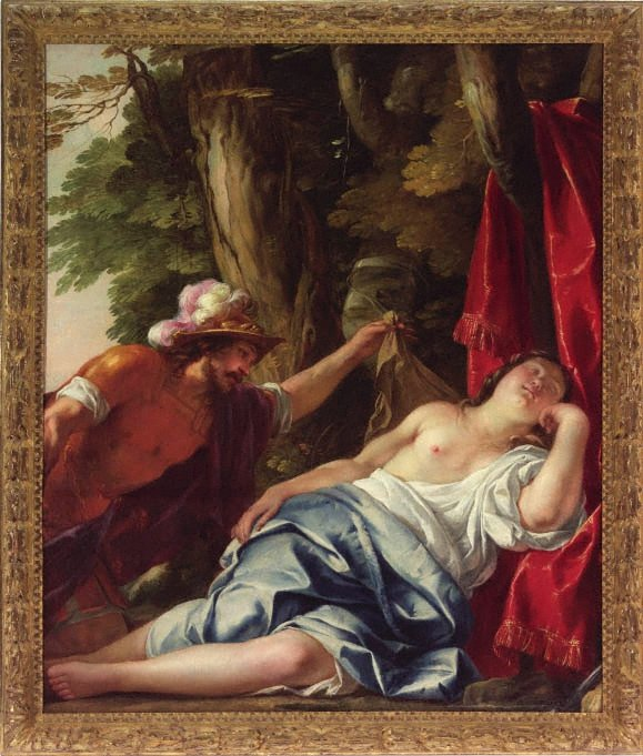Mars and the vestal virgin, (1638) by Jacques Blanchard