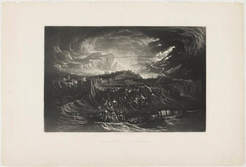 An image of Fall of the Walls of Jericho by John Martin