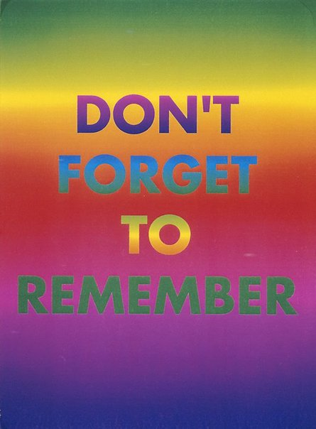 An image of Don't forget to remember by David McDiarmid