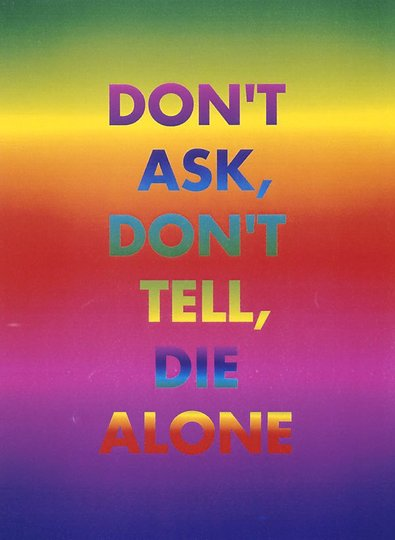 AGNSW collection David McDiarmid Don't ask, don't tell, die alone (1994-1995) 368.1998.2