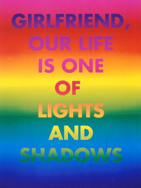 An image of Girlfriend, our life is one of lights and shadows by David McDiarmid