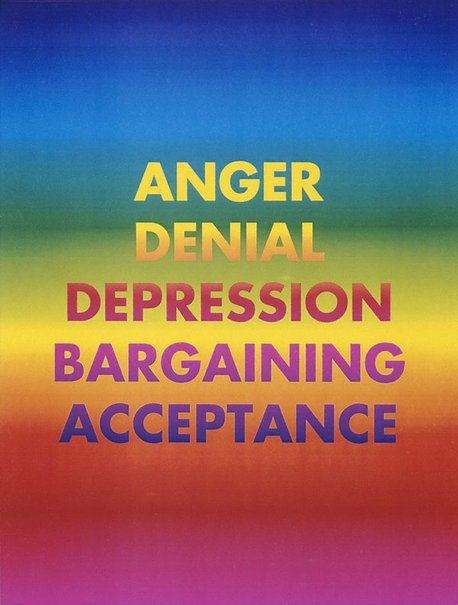 An image of Anger denial depression bargaining acceptance by David McDiarmid