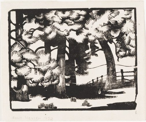 An image of Pines, The Cedars, Hahndorf by Nora Heysen