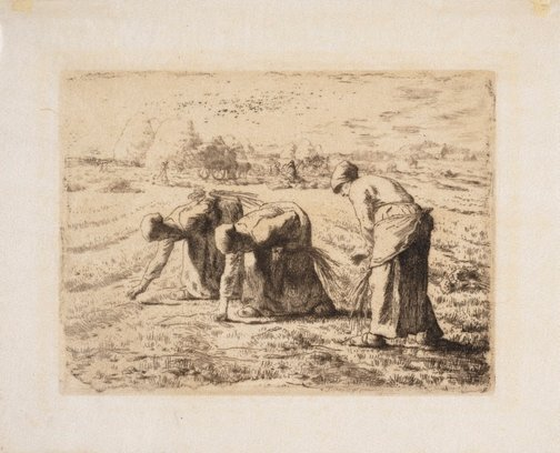 An image of The gleaners by Jean-François Millet