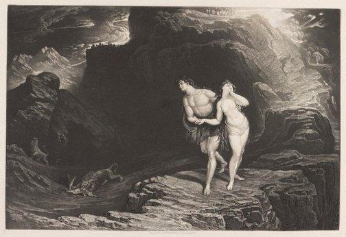 An image of The Expulsion by John Martin