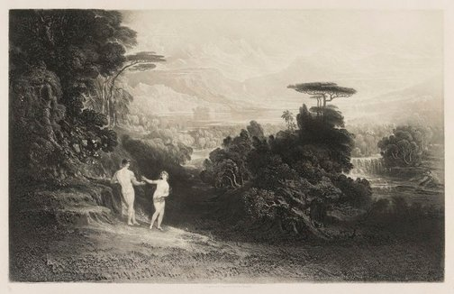 An image of The Fall of Man by John Martin