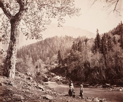 An image of Cascades on Scinde River by Samuel Bourne