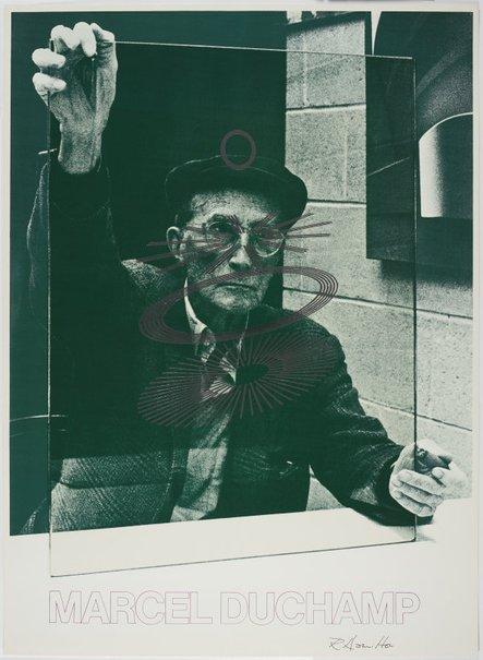 An image of Marcel Duchamp by Richard Hamilton