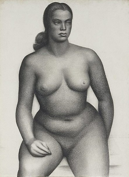 An image of Seated female nude, front view by Eric Wilson