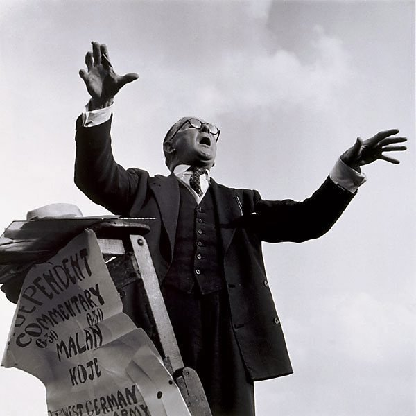 An image of Hyde Park Corner speaker, London