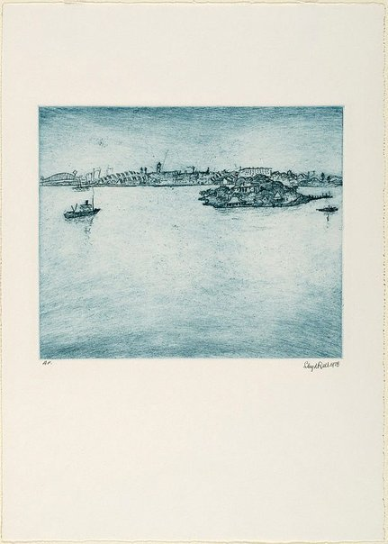 An image of Iron Cove, Sydney Harbour by Lloyd Rees