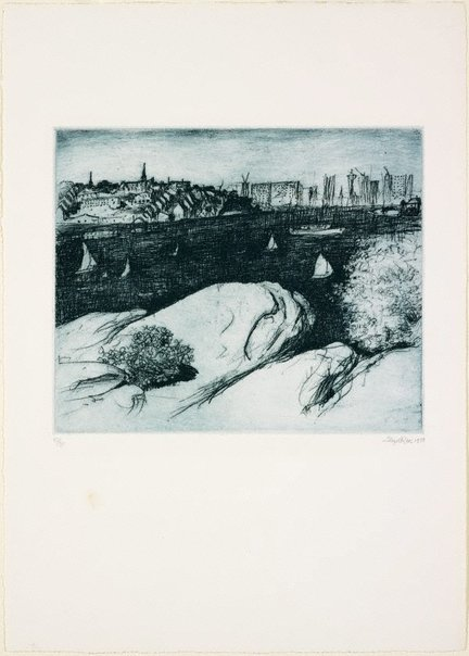 An image of The summit, Ball's Head by Lloyd Rees