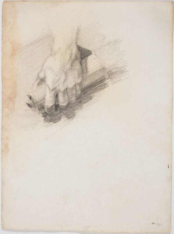 An image of recto: Hand holding a scroll verso: Pan
