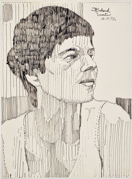 An image of Untitled (Pat looking over her left shoulder) by Richard Larter