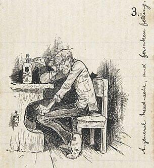An image of A general head-ache, and forsaken feeling by Lyonel Feininger