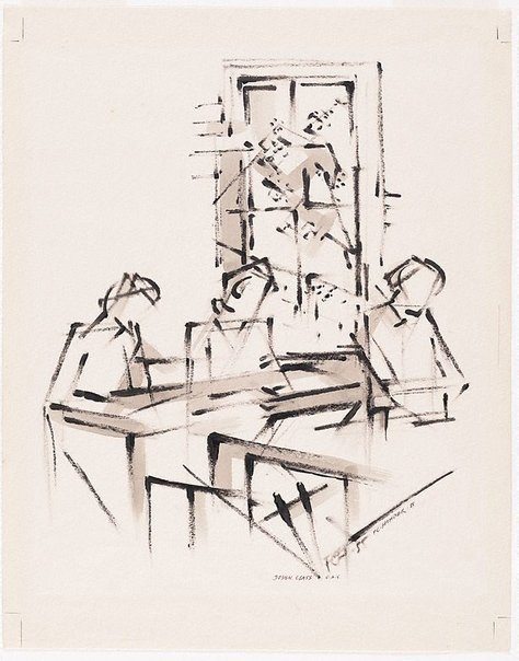 An image of Design class, National Art School by Frank Hinder