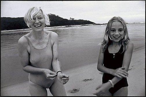 An image of Bonita and Marina laughing by Sandy Edwards