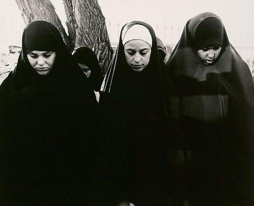 An image of Three girls praying at the Preston Mosque (Lebanese Sunni) by Viva Jillian Gibb