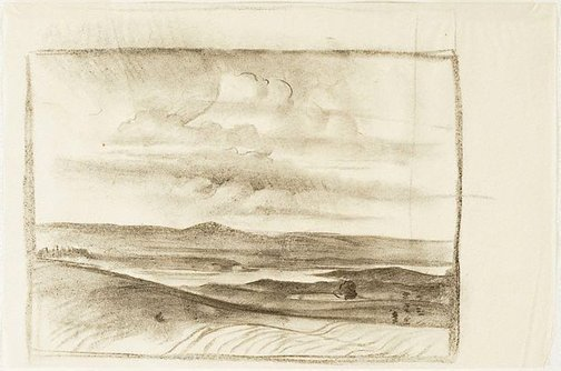 An image of (Landscape, south of England) by Nora Heysen