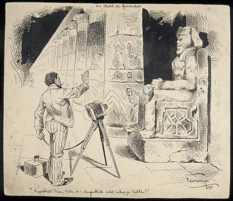 An image of Force of Habit (Egyptian figure) by Lyonel Feininger