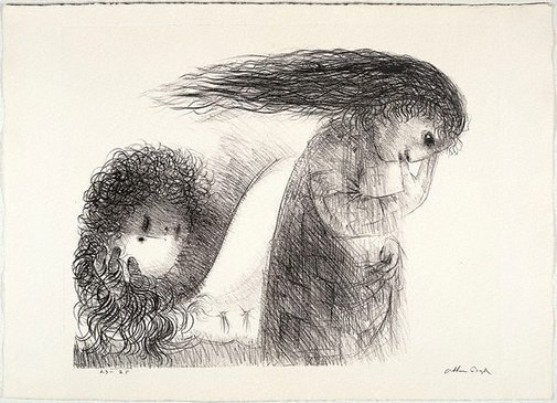 An image of St Francis and the revels in Assisi by Arthur Boyd