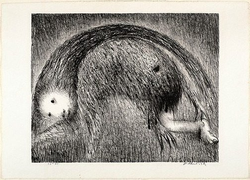 An image of The wolf of Gubbio by Arthur Boyd