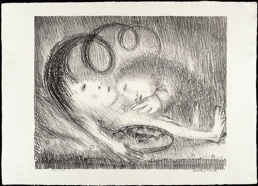 An image of Jacopa tends St Francis by Arthur Boyd